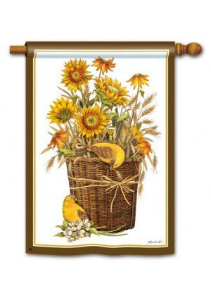 Summer Sunflowers Flag | Decorative House Flags | Garden House Flags