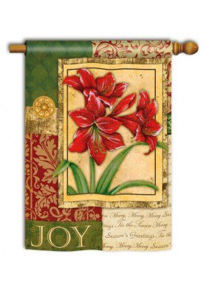 Amaryllis Tapestry House Flag | Christmas Flags | Yard Flags | Cool Flags