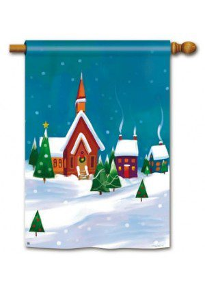 Winter Village House Flag | Winter Flags | Christmas Flags | Holiday Flags