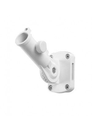 White Metal Flagpole Bracket | Flagpole Brackets | Pole Brackets