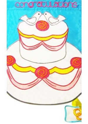 Congratulations Cake Flag | Wedding Flags | Applique Flags | Cool Flags