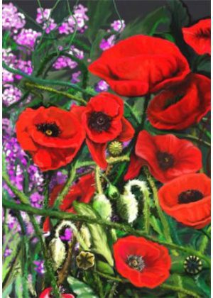 Red Poppies Flag | House Flags | Garden Flags | Yard Flags | Floral Flags