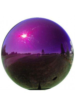 Purple Metal Gazing Ball | Gazing Balls | Stainless Steel Gazing Balls