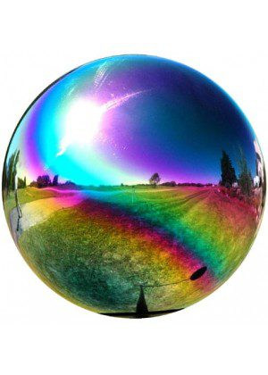 Rainbow Metal Gazing Ball | Gazing Balls | Stainless Steel Gazing Balls