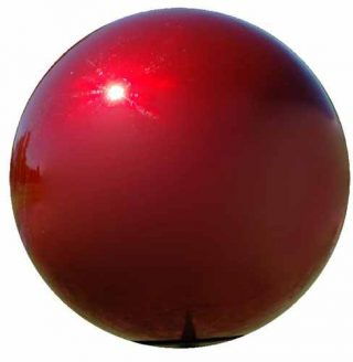 Red Metal Gazing Ball | Gazing Balls | Stainless Steel Gazing Balls