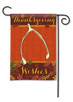 Wishbone Garden Flag | Thanksgiving Flags | Holiday Flags | Yard Flags