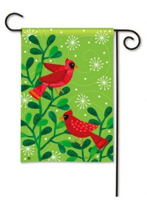 Cardinal Party Garden Flag | Christmas Flags | Holiday Flags | Winter Flag