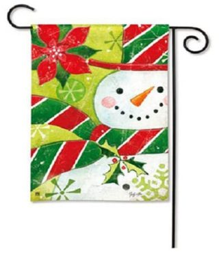 Candy Hat Garden Flag | Christmas Flags | Holiday Flags | Snowman Flag