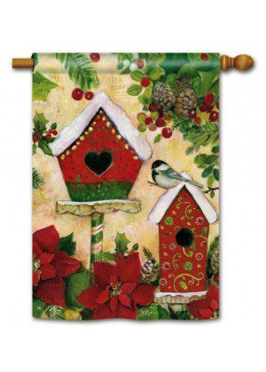 Petite Chalet House Flag | Christmas Flags | Holiday Flags | Bird Flags