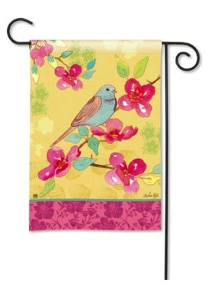 Spring Song Garden Flag | Spring Flags | Floral Flag | Bird Flag | Yard Flag