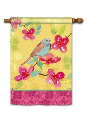 Spring Song House Flag | Bird Flags | Floral Flags | Spring Flag | Yard Flag
