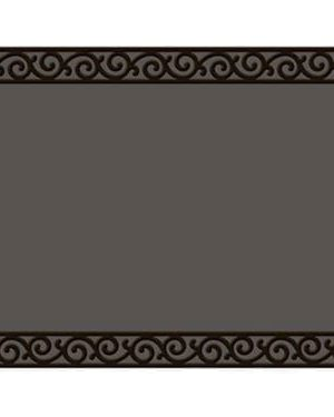 Recycled Rubber Tray With Scroll Corners | Doormat Tray | Doormats