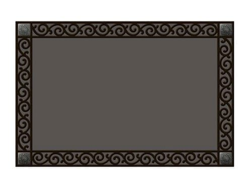 Recycled Rubber Tray With Scroll Corners | Doormat | Garden House Flag