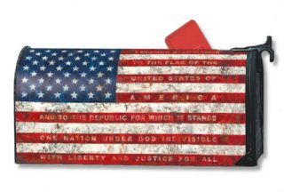 Pledge of Allegiance Mailbox Cover | Decorative Mailwraps | Mailbox Cover