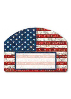Pledge of Allegiance Yard Sign | Address Plaques | Yard Decor | Yard Signs