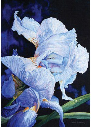 Blue Summer Iris Flag | Floral Flags | Spring Flags | Summer Flags