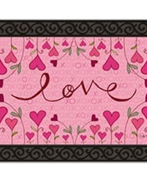 Hugs and Kisses Doormat | Doormat | MatMates | Valentine's Day Doormat