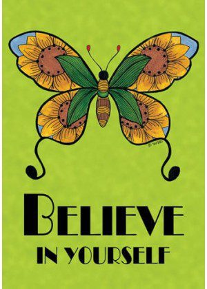 Butterfly Believe Green Flag | Cool Flags | Yard Flags | Inspirational Flags