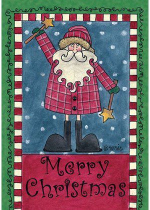 Merry Christmas Santa Flag | Christmas Flags | Holiday Flags | Yard Flags