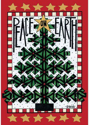 Peace Tree Flag | Christmas Flags | Holiday Flags | Yard Flags | Cool Flag