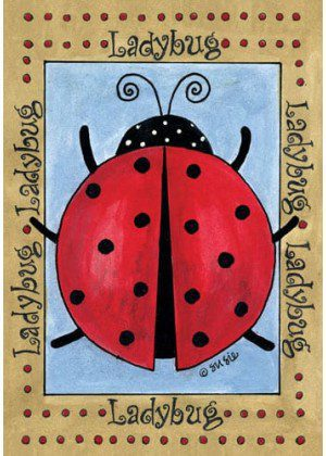Red Ladybug Flag | Yard Flags | Spring Flags | Summer Flags | Flags