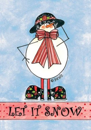 Snow Lady Scarf Flag | Winter Flags | Snowman Flags | Yard Flags
