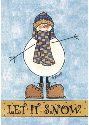 Snowman Scarf Flag | Winter Flags | Snowman Flags | Yard Flags | Flags