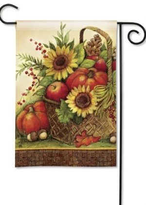 Fall Basket Garden Flag | Thanksgiving Flags | Holiday Flags | Fall Flags