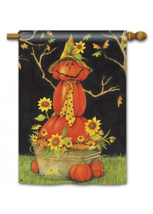 Mr. Scarecrow House Flag | Halloween Flags | Holiday Flags | Fall Flags