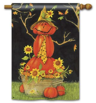 Mr. Scarecrow House Flag | Halloween Flags | Yard Flags | Fall Flags