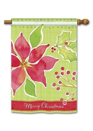 Christmas Flower House Flag | Christmas Flags | Yard Flags | Cool Flags