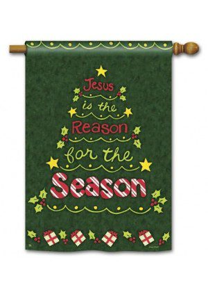 Reason For The Season House Flag | Christmas Flags | Yard Flags