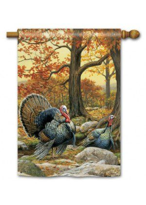 Turkeys House Flag | Thanksgiving Flags | Fall Flags | Yard Flags | Flags