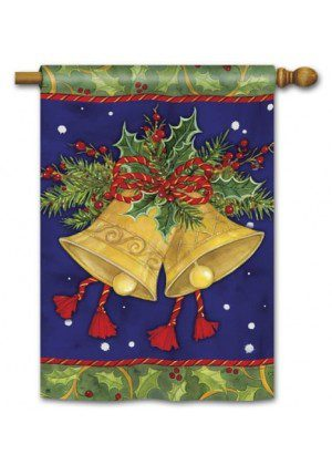 Christmas Bells House Flag | Christmas Flags | Yard Flags | Cool Flags