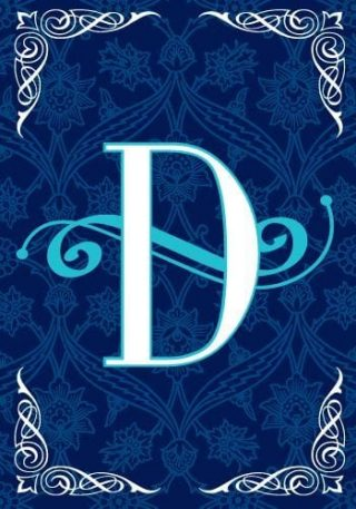 Blue Teal Monogram-D Flag | Monogram Flags | Winter Flags | Yard Flags