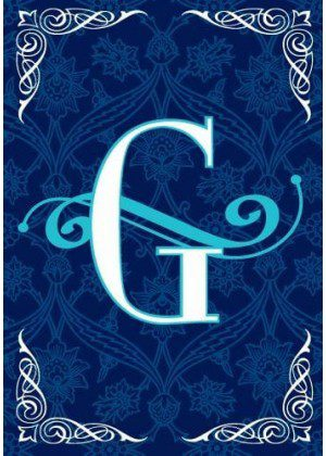 Blue Teal Monogram-G Flag | Monogram Flags | Winter Flags | Yard Flags