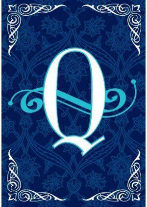 Blue Teal Monogram-Q Flag | Monogram Flags | Winter Flags | Yard Flags