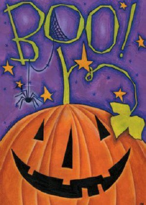Boo Pumpkin Flag | Fall Flags | Halloween Flags | Double Sided Flags
