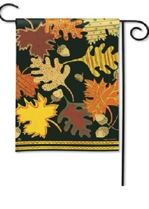 Patterned Leaves Garden Flag | Fall Flags | Floral Flags | Garden Flags