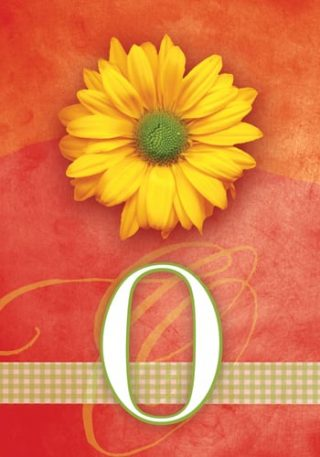 Yellow Daisy Monogram-O Flag | Monogram Flags | Floral Flag | Yard Flag
