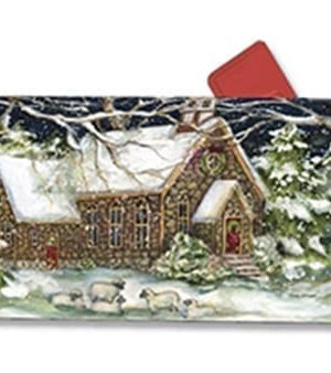 Village Church Mailbox Cover | Mailwraps | Christmas Mailbox Covers