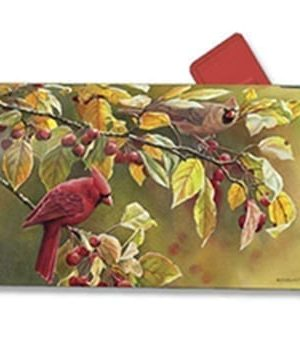 Cardinal Afternoon Mailbox Cover | Mailbox Covers | Garden House Flags