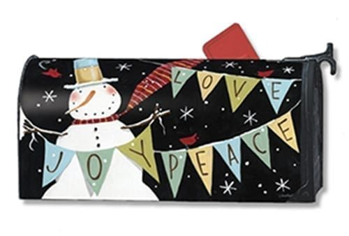 Snowman Celebration Mailbox Cover | Mailwraps | Garden House Flags
