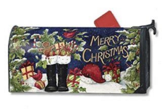 Santa Boots Mailbox Cover | Mailwraps | Christmas Mailbox Covers