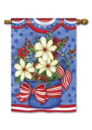 American Beauty House Flag | 4th of July Flags | Patriotic Flags | Yard Flag