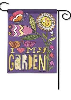 Love My Garden Garden Flag | Floral Flag | Inspirational Flags | Yard Flags