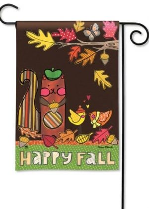 Squirrelly Friends Garden Flag | Fall Flags | Inspirational Flags | Yard Flags