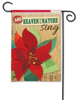Heaven and Nature Sing Garden Flag | Christmas Flags | Yard Flags