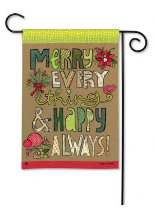 Merry Everything Garden Flag | Christmas Flags | Holiday Flag | Yard Flag