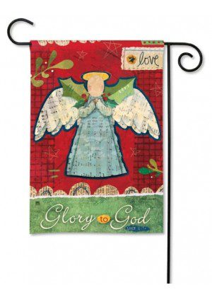 Glory to God Garden Flag | Christmas Flags | Holiday Flags | Cool Flags